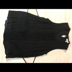 Liz Lange black and lace maternity top